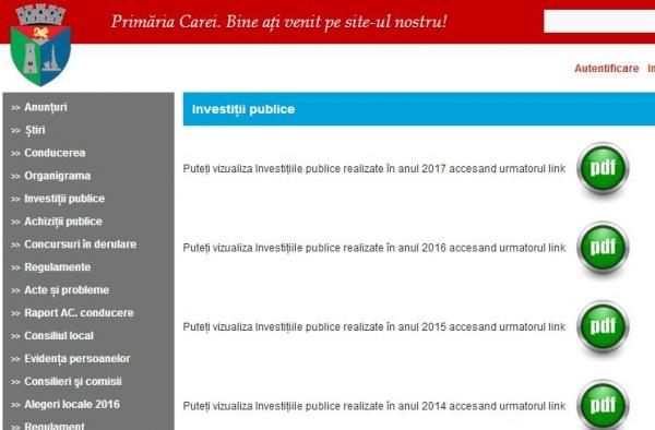 Au apărut Investiţiile Publice pe pagina Primăriei Carei. Cartierele Mihai Viteazu lipsesc  de pe HARTA CAREI dar apar în proiecte