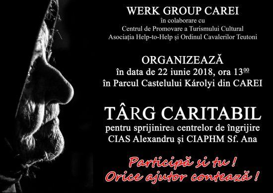 Târg Caritabil pentru susţinerea centrelor de îngrijire din Carei din subordinea Consiliului Judeţean