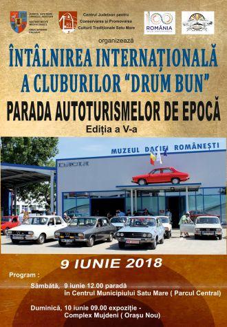 """Parada automobilelor de epocă """"DRUM BUN"""" la Satu Mare"""