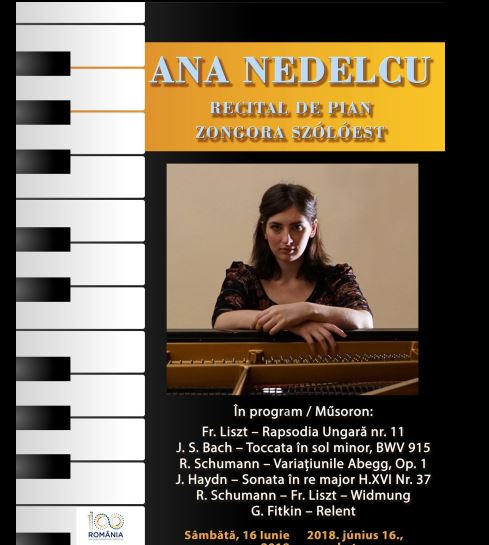 Recital de pian Ana Nedelcu. Niciun compozitor român în repertoriu