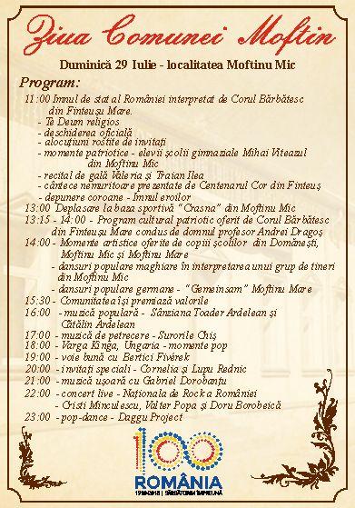Invitaţie la Ziua comunei Moftin