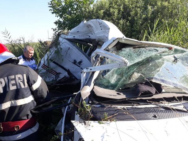 Accident feroviar la Domăneşti