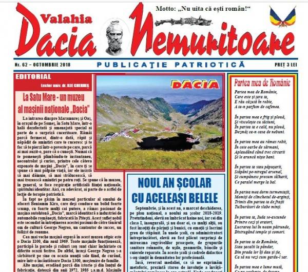 Dacia Nemuritoare a ajuns la numărul 62