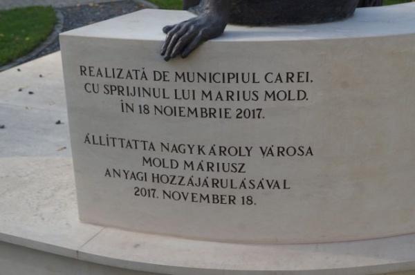 Mulțumim  Dan Tanasă pentru repunerea în drepturi a limbii române la Carei