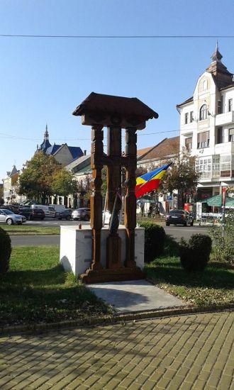 A dispărut un steag de la Troiţa românească din Satu Mare