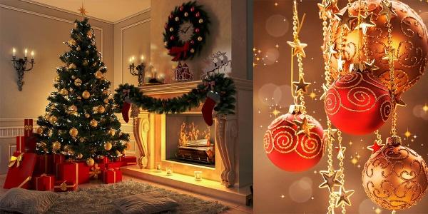 Roşu,verde şi auriu sunt simbolurile Crăciunului