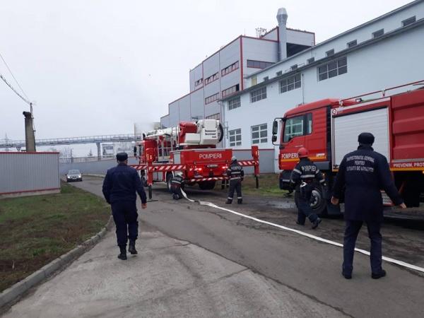 Explozie şi incendiu la Fabrica de ulei Ardealul Carei. Exerciţiu
