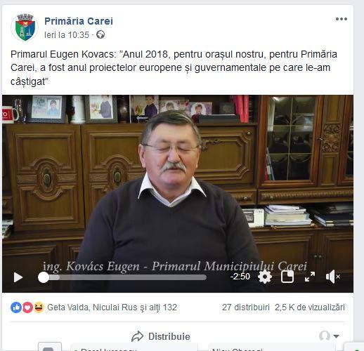 Primarul ,,nu provocaţi maghiarii,, îl ţine aproape pe cel care a lăsat drumurile proaste