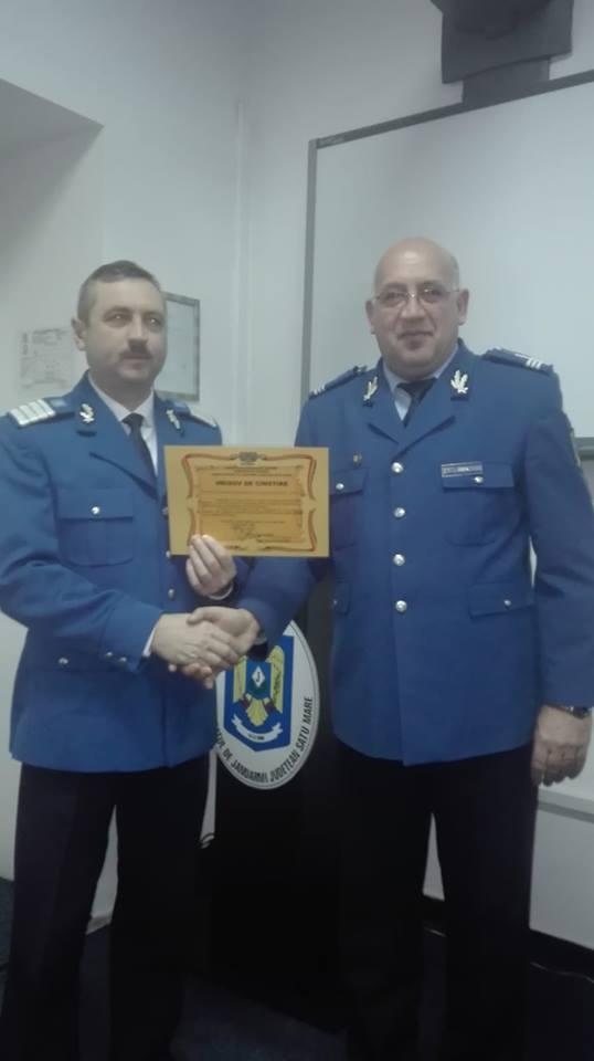 Pensionare în cadrul Detaşamentului 3 Jandarmi Carei – Tăşnad