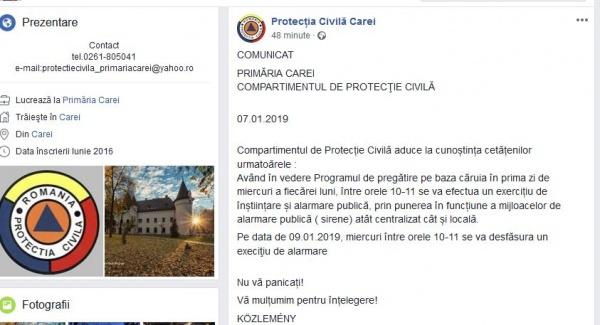 Serviciul de Protecţie Civilă din Primăria Carei a fost externalizat