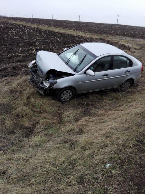 Accident la ieşirea din Carei spre Oradea