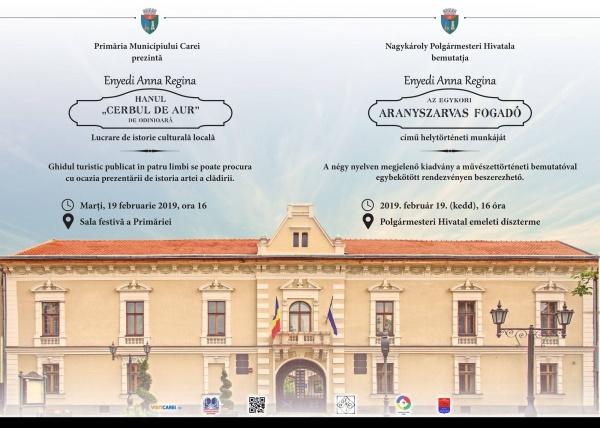 Broșura pe bani publici despre clădirea Primăriei Carei fost Han. Fără fonduri pentru promovarea personalităților românești