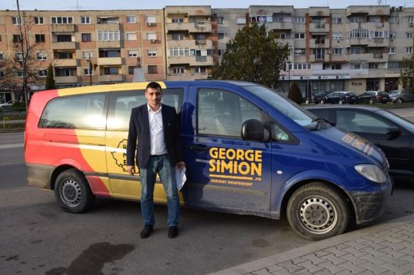 George Simion a ajuns la Carei
