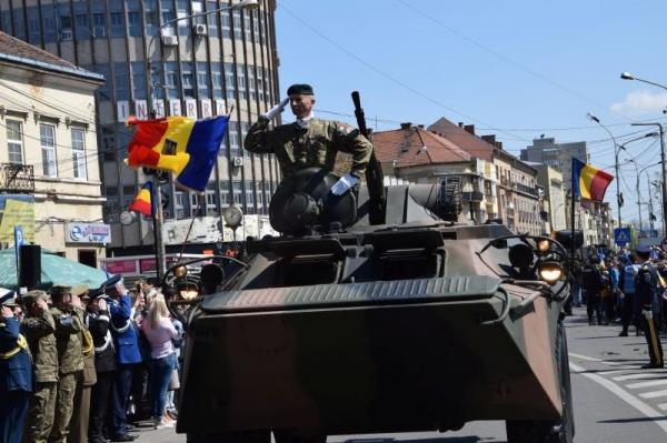 Defilarea Armatei Române la Satu Mare cu ocazia aniversării Centenarului eliberării orașului