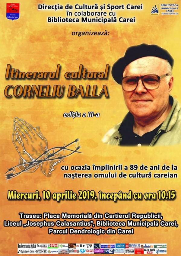 Itinerar cultural Corneliu Balla la Carei