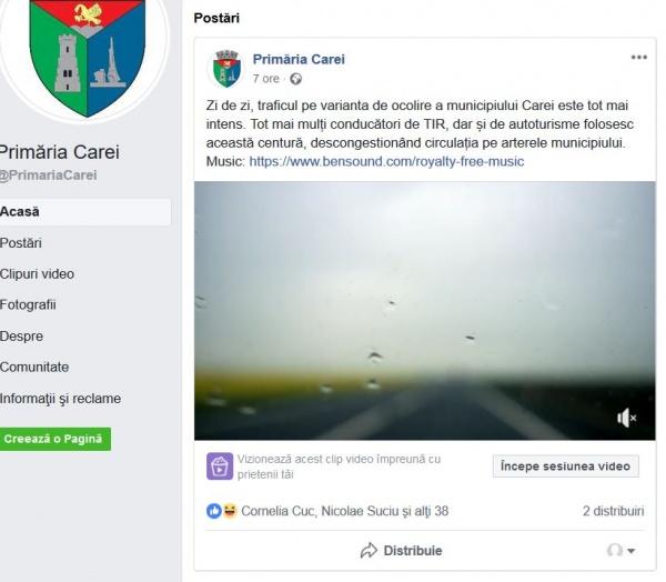 Contribuabili careieni RESTRICȚIONAȚI pe pagina Facebook a Primăriei Carei