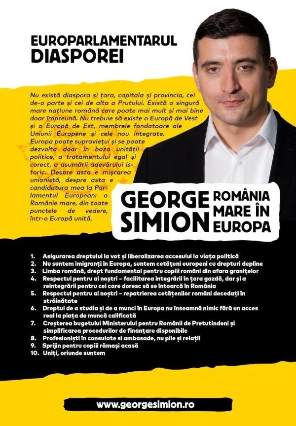 Afișele cu George Simion dispar la Carei