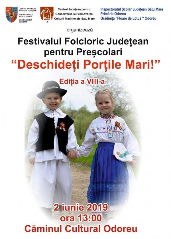 """Festival Folcloric pentru preșcolari """"Deschideți porțile mari"""""""