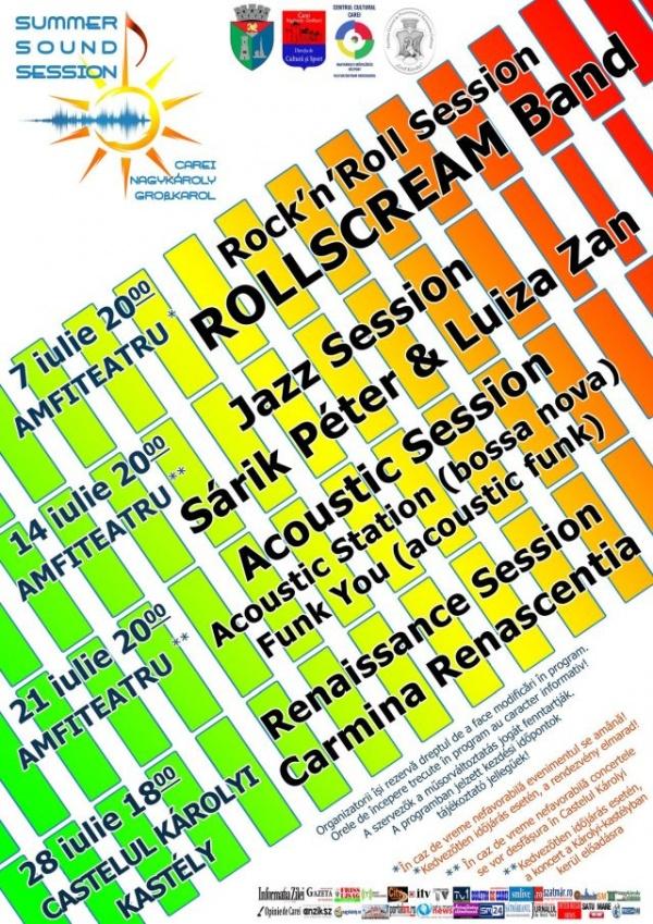 Evenimentul Summer Sound Sessions la Carei. Nicio formație de muzică veche românească