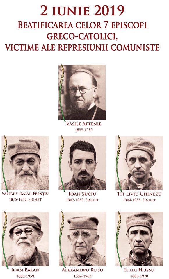 Beatificarea celor 7 episcopi români greco-catolici de către Papa Francisc pe Câmpia Libertății