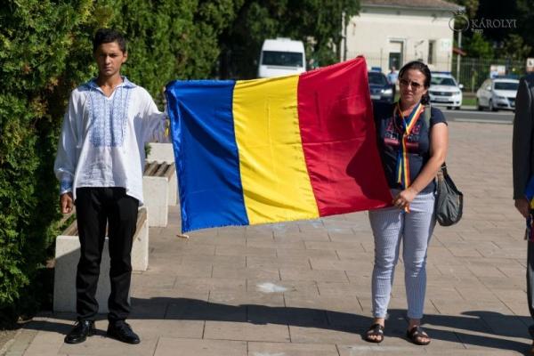 Ziua Drapelului fără sfințire de drapel la Carei
