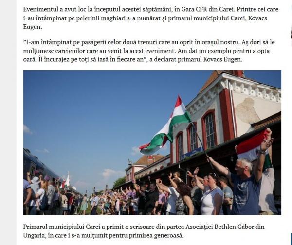 Înalții oaspeți români sunt ignorați de primarul Careiului. Pelerinii din Ungaria sunt așteptați de primar la Gară