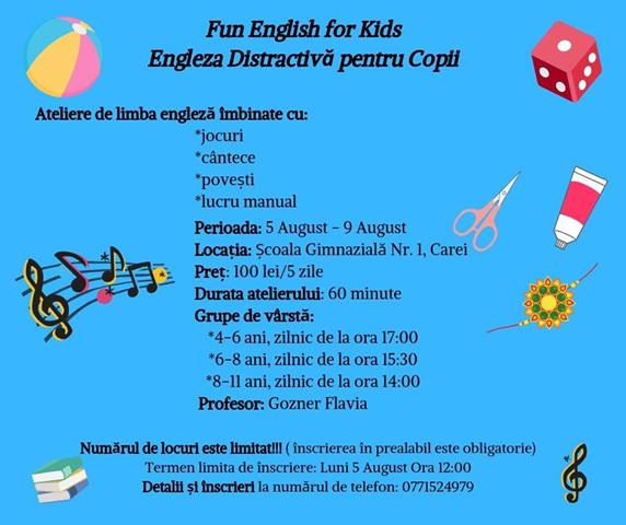 Ateliere de limba engleză la Carei