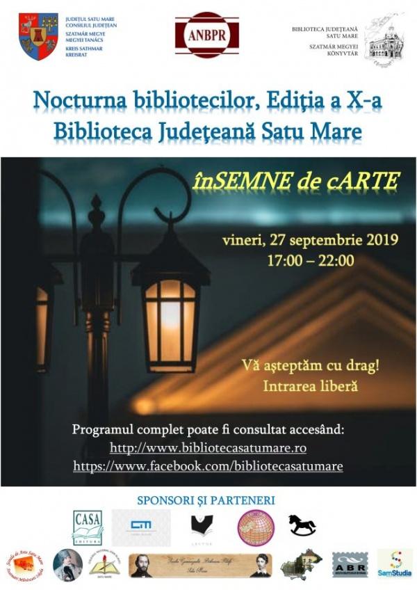 Nocturna bibliotecilor anunțată de Biblioteca Județeană Satu Mare