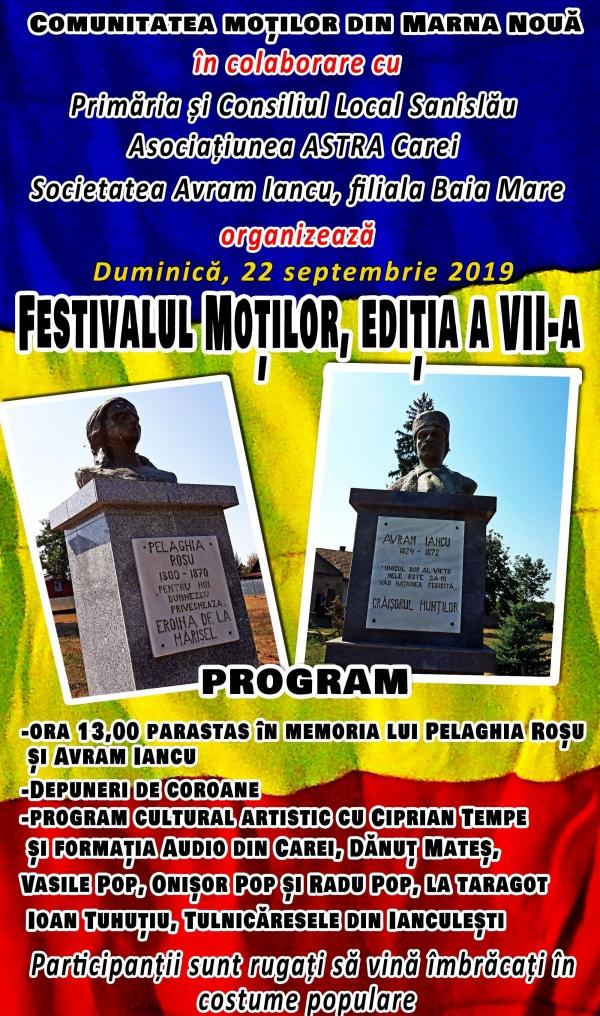 INVITAȚIE. Festivalul Moților la Marna Nouă