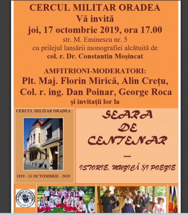 Seara de Centenar cu col.r.dr.Constantin Moșincat