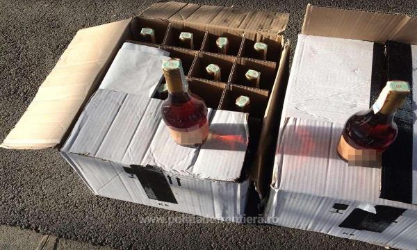 Captură de alcool fără documente de proveniență și un urmărit general prins la vama Petea