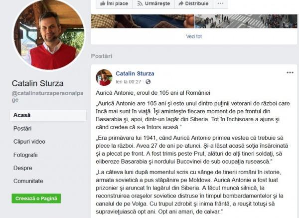 Facebook a blocat și povestea unui veteran de război spusă de un jurnalist român