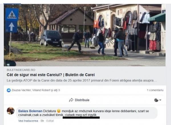 Balazs Boleman atacă familia Ciută fără argumente