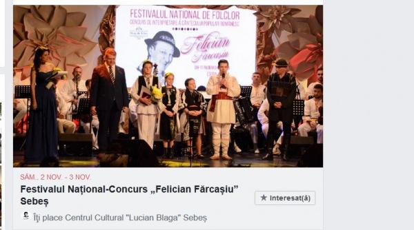 """Festivalul-Concurs Național de Interpretare a Cântecului Popular Românesc """"Felician Fărcașiu"""". Înscrieri"""
