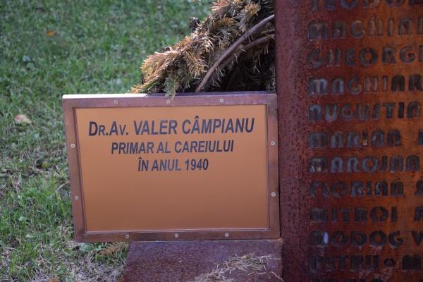 Reparație morală. Numele fostului primar al Careiului din 1940 apare pe Monumentul refugiaților și expulzaților de către regimul hortyst