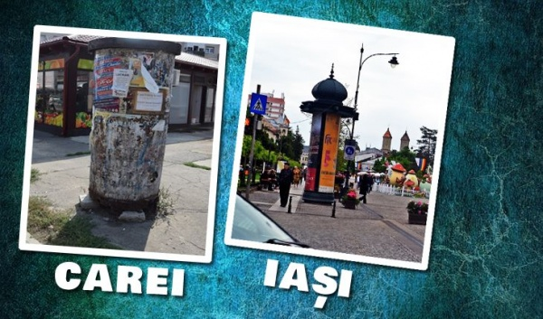 Tambur publicitar la Carei sau bomba de rugină din centrul orașului