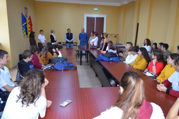 Elevi din patru țări la Primăria Carei și la Liceul Teoretic