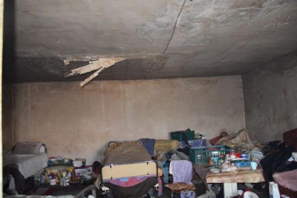 Aici au primit loc  de cazare oamenii fără adăpost din Carei
