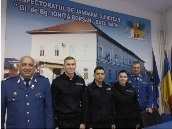 Echipa jandarmeriei sătmărene întinerește