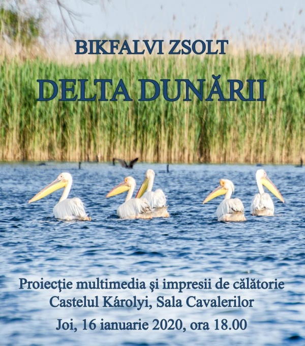 """Proiecția multimedia și prezentarea impresiilor din călătorie """"Delta Dunării"""". Joi în limba română iar vineri în limba maghiară"""