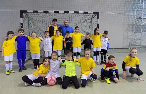 Fotbal fete-băieți la Carei