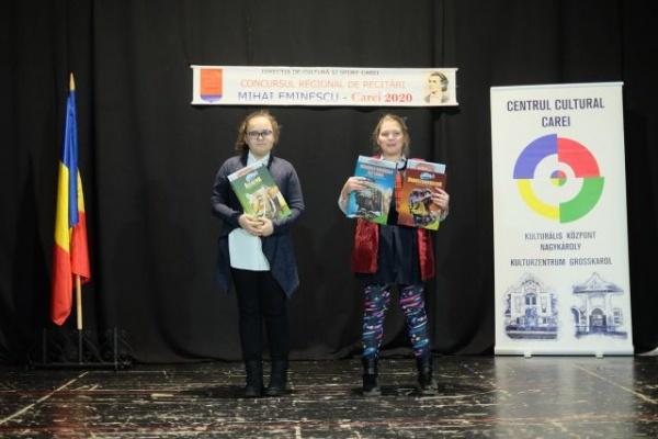 Câștigătorii tuturor secțiunilor de la Concursul de recitări Mihai Eminescu Carei 2020