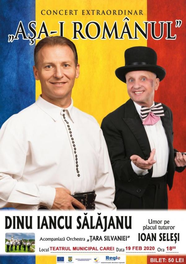 """Concert """"Așa-i românul"""" și umor la Teatrul Municipal Carei"""
