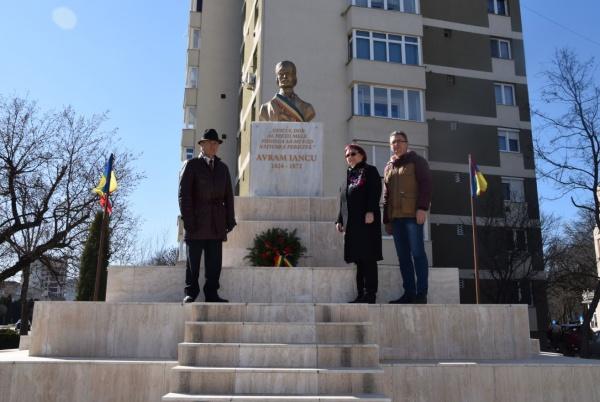 Revoluționarii Avram Iancu și Simion Bărnuțiu nu au fost uitați la Carei