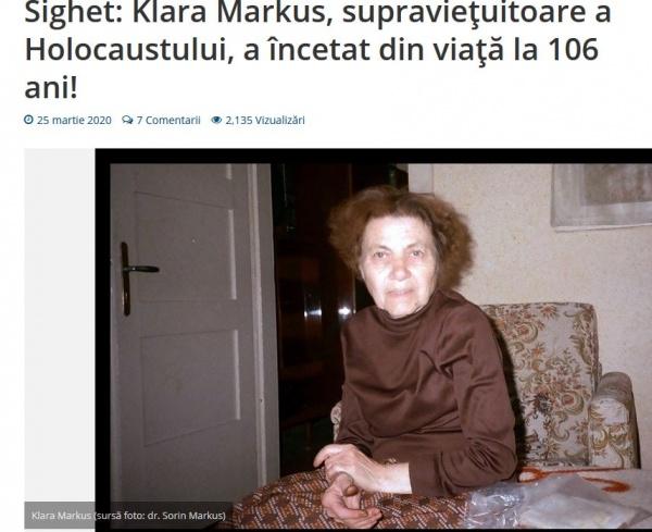 A murit careianca supraviețuitoare a Holocaustului, la 106 ani