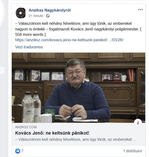 Primarul Kovacs se adresează azi doar electoratului maghiar în timpul programului