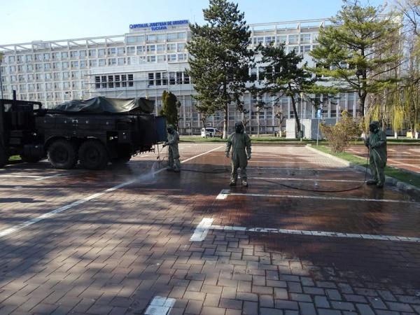 Spitalul din Suceava decontaminat de trupele speciale ale  Ministerului Apărării Naționale