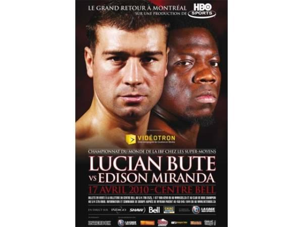 VIDEO:Vezi cum l-a făcut Lucian Bute KO pe Edison Miranda!