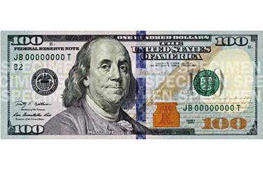 """Bancnota """"3D"""" de 100 de dolari, lansată in SUA"""
