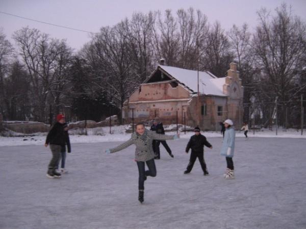 Distracţie pe gheaţă la Carei